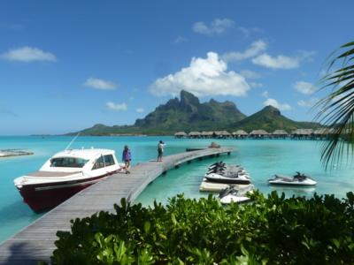 Arriving to Four Seasons Bora Bora