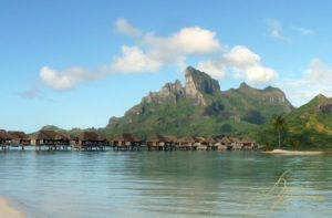 Over the water bungalows at Four Seasons Bora Bora by Dean