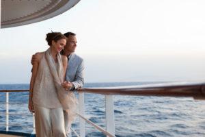 couple on honeymoon on cruise ship