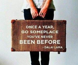 travel somewhere new