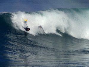 Surfing in La Jolla Beach
