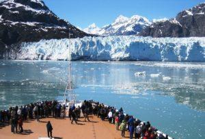 viewing Hubbard Glacier in-Alaska