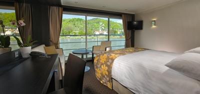 cabin panoramic view Avalon River Cruises