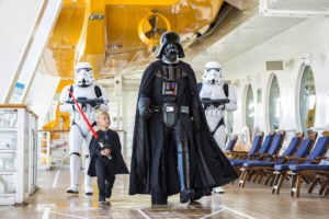 """In 2016, Disney Cruise Line guests can experience the legendary adventures and iconic characters from the Star Wars saga for the first time aboard a Disney Cruise Line ship in a brand-new, day-long celebration during eight special sailings: """"Star Wars Day at Sea."""" The event combines the power of the Force, the magic of Disney and the excitement of cruising"""