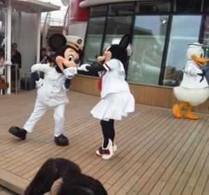 Mickey and Mini on Disney Dream