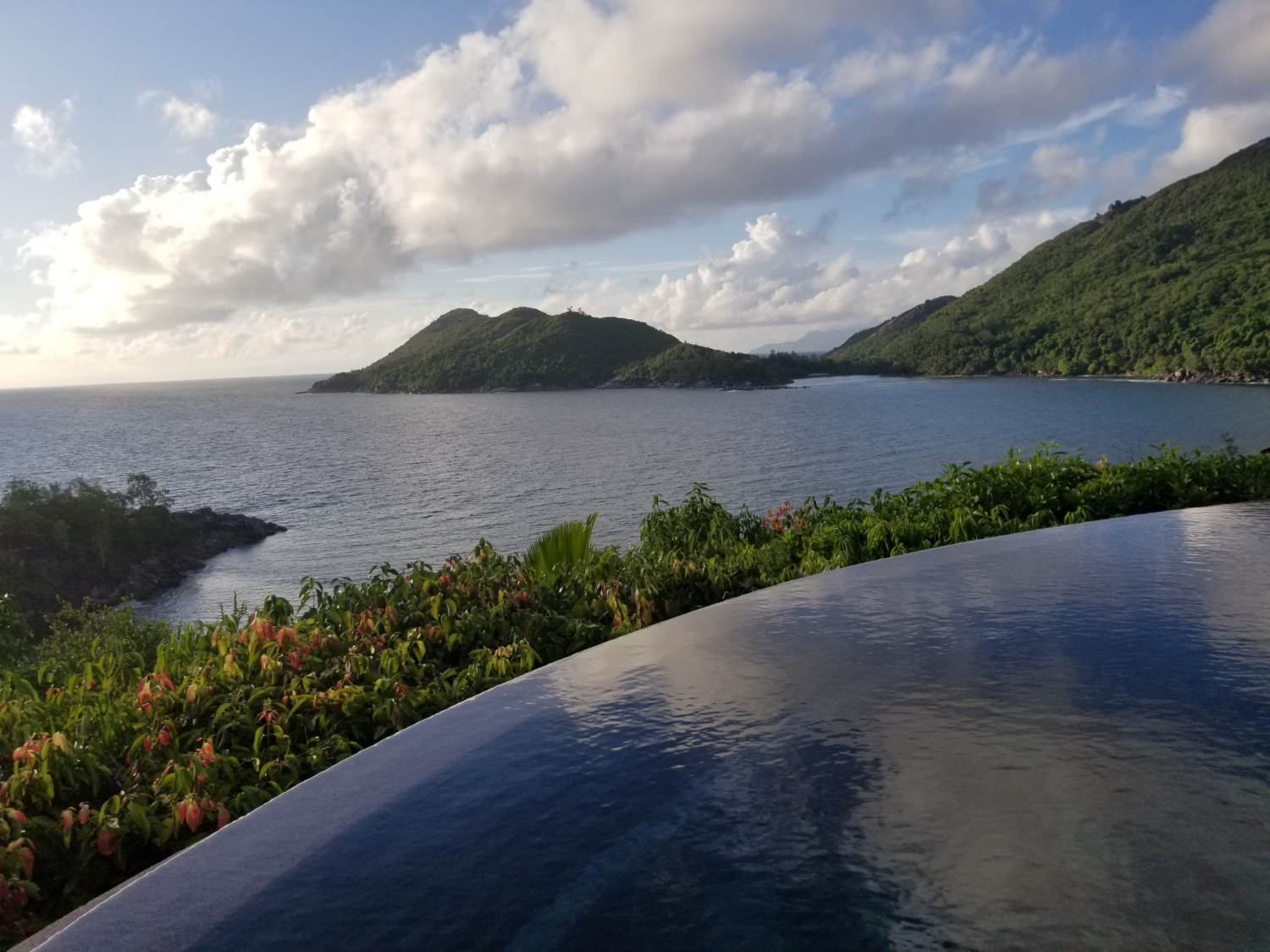 Views in Seychelles from private plunge pool