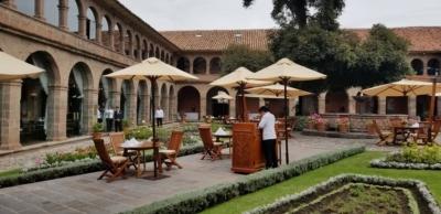 courtyard at belmond monasterio