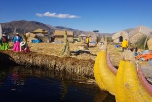 Floating Islands on Lake Titicaca in Peru