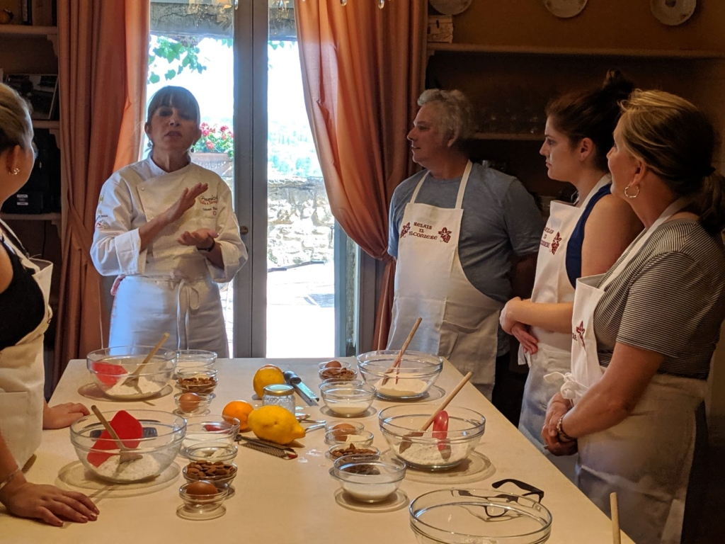 Chef Silvia giving a cooking class