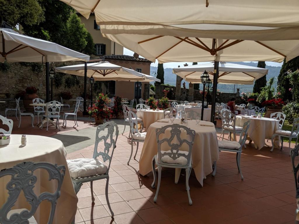 Il Falconiere Restaurant terrace